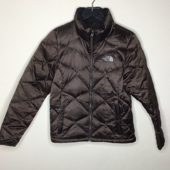 The North Face brown puffer quilted down fill M